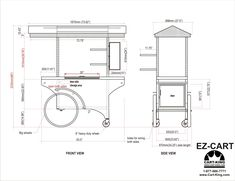 Carts and Kiosks for Sale - Cart-King International Food Cart Design, Food Counter, Food Truck Business, Coffee Carts, Booth Design, Kiosk, Food Service, Floor Plans, The Unit