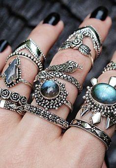 Deathbed Labradorite Sterling Silver Casket Ring