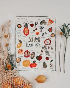 "Tanja von Die Handletterei's Instagram profile post: ""#handletteringmeetsillustration #watercolorlove #funwithfruit >>> Projekt: #saisonkalender ✍🏻🍉 >>> Welche Frucht möchtest du illustrieren?…"""