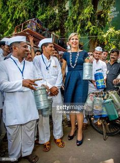 adb9f78da42 Queen Maxima visits India Day 3 - lunch box carriers - May 30