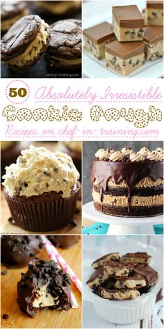 50 Incredible Cookie Dough Recipes at chef-in-training.com …If you are a cookie dough lover- this round up is for you!