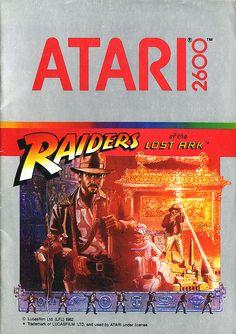 Raiders of the Lost Ark Atari 2600 video game Vintage Video Games, Classic Video Games, Retro Video Games, Retro Games, Space Invaders, Donkey Kong, Ark Video Game, Arcade Games, Raiders