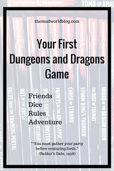 You want to start your own Dungeons and Dragons game? Perhaps it is time to wave the geek flag yourself? Want to try the real thing, but not sure where to begin? This post is for people just starting out.