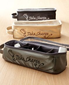 Tired of electronics cords getting tangled or lost in totes or luggage or at home? This & Charge& charger organizer lets you keep chargers in individual compartments for easy access. Packing Tips, Travel Packing, Travel Tips, Suitcase Packing, Travel Set, Family Travel, Travel Destinations, Genius Ideas, Travel Organization