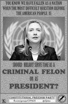 If elected Hillary Clinton could take the presidency with her, becoming our first prisoner-in-chief #perjury #clintonemails #benghazi