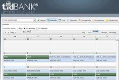 Planlegging av ferie er enkelt i tidBANK og tett integrert med din Exchange kalender