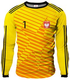 LIGA REAL Goalkeeper Jersey With Custom Name And Number yellow