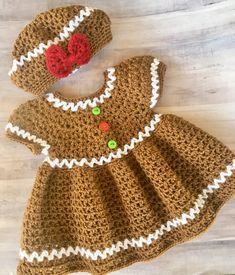 All Crochet Patterns are Half Price! Excited to share this item from my shop: Crochet Pattern Gingerbread Dress and Hat, Crochet Christmas Dress Pattern, easy crochet patterns Crochet Gifts, Easy Crochet, Crochet Tree, Kids Crochet, Vestidos Bebe Crochet, Crochet Dresses, Knit Dress, Crochet Baby Blanket Beginner, Crochet Baby Dress Free Pattern