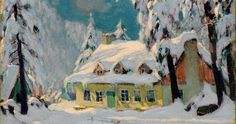 Specialists in selling artwork by Clarence A. Gagnon and other Canadian artists for over sixty years. Contact us to sell your artwork by Clarence A. Canadian Painters, Canadian Artists, Winter Painting, Winter Art, Famous Artists, Great Artists, Clarence Gagnon, Quebec, Of Montreal