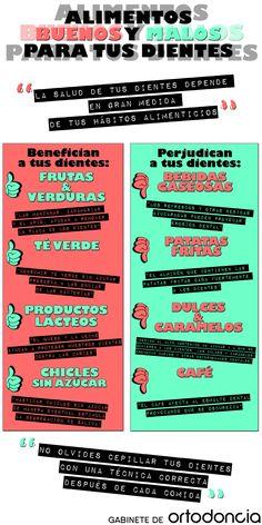 Alimentos buenos y malos para tus dientes. #SaludDental