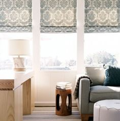 love the fabric on the blinds trying to find the right blinds for our bay windows