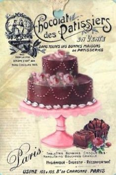 1 Bügelbild Cupcake Nr.103  vintage Nostalgie helle Transferfolie i shabby
