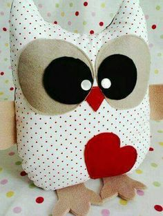 Owl heart doll
