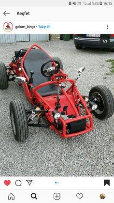 Fusca Cross, Go Kart Designs, Go Kart Kits, Kart Cross, Eletric Bike, Go Kart Frame, Homemade Go Kart, Go Kart Plans, Diy Go Kart