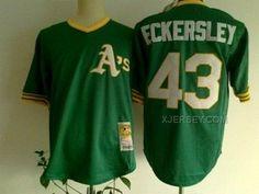 http://www.xjersey.com/athletics-43-eckersley-green-jerseys.html Only$34.00 ATHLETICS 43 ECKERSLEY GREEN JERSEYS #Free #Shipping!
