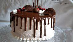 drip cake mascarpone e cioccolato - ricetta