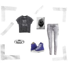 Born for trouble by magicandpeanut on Polyvore featuring H&M, Converse and Spallanzani