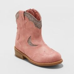 3ae686a83664 Toddler Girls  Isabella Cowboy Boots with Glitter - Cat   Jack™ Pink