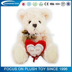 2017 Valentine's Day for lover stuffed cute bear animal plush toy
