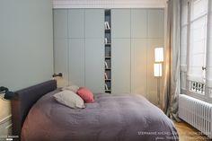 Rénovation et décoration d'un appartement Haussmanien de 200 m2#chambre#dressing sur mesure#, WOM Design - Stéphanie Michel-Girard - Côté Maison