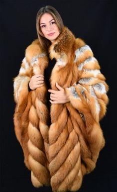 Fur Coat Fashion, Fur Cape, Fur Clothing, Fox Fur Coat, Fashion Project, Red Fox, Camel, Plus Size, Fur Jackets