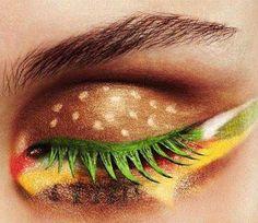 For those days when being the Hamburgler just isn't glamorous enough. ---> Hamburger eye makeup!