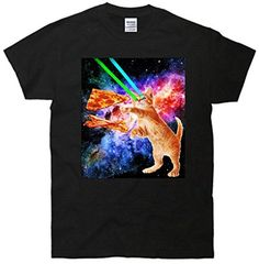 TeeShirtPalace Space Hunger Flying Cat Pizza Bacon T-Shirt