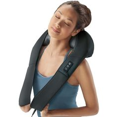 Shiatsu Neck and Back Massager from Brookstone - Cheezcake Aficionado - Photo Muscles Of The Neck, Sore Muscles, Neck And Back Massager, Acupressure Treatment, Acupuncture, Professional Massage, Neck Pain Relief, Muscle Recovery, Neck Massage