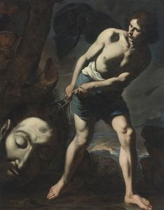 David with the head of Goliath, by Andrea Vaccaro