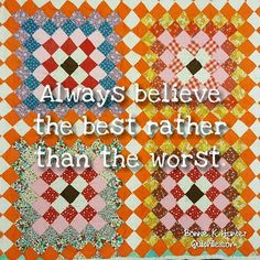 Don't let your worst define you and extend the same courtesy to everyone else! Have a lovely Sunday friends! Quilting Quotes, Postage Stamp Quilt, Bonnie Hunter, Simple Quotes, Recycled Fabric, Vintage Quilts, Granny Squares, Everyone Else, Quilt Blocks