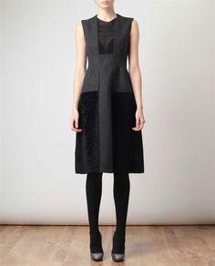pretty wool dress by Calvin Klein.