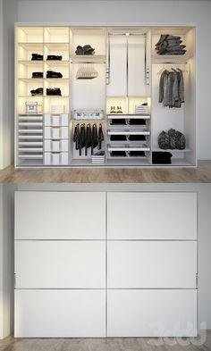 Bedroom Closet Design, Closets, Layout Design, Bedroom Ideas, Garage Doors, Outdoor Decor, Home Decor, Armoires, Decoration Home