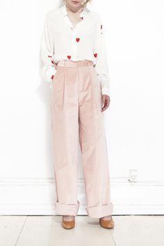 CREATURES OF COMFORT, Hariette Pant Velvet, Pink  