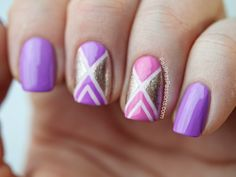 Pink and Purple Tape Nails. Products used: Nail Polish in Powder Pink, Bellaoggi in Solash Pink, China Glaze Nail Lacquer in That's Shore Bright, Catrice Nail Polish in The GlamoureX Factor Love Nails, How To Do Nails, Fun Nails, Pretty Nails, Colorful Nail Art, Colorful Nail Designs, Easy Nail Art, Nail Art 2014, Nail Art Blog