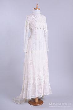 My Fair Lady Lace Vintage Wedding Gown : Mill Crest Vintage
