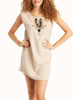 $48stud arrow shift dress
