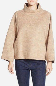 Madewell Herringbone Mock Neck Sweatshirt available at Turtleneck Sweatshirt, Sweatshirt Dress, Pullover, Nordstrom Madewell, Cut Sweatshirts, Hoodies, Urban Fashion, Mock Neck, Winter Outfits
