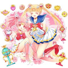 Sailor Chibimoon & Sailor Moon