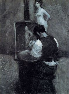 'Painter and Model' (1904) by Edward Hopper