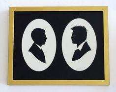 everyman vs. Tyler Durden  (Silhouette, Paper Cut)