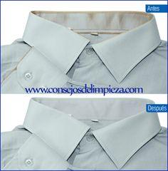 8 Ideas De Desmanchar Puños Y Cuellos De Las Camisas Camisas Manchas Cuello