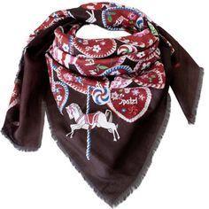29,90€ Trachtentuch Tuch Halstuch mit Lebkuchen braun