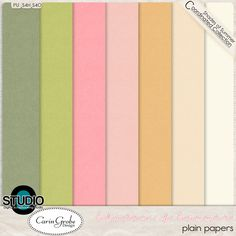Freebie: Shades of Summer - the plain papers -   - Available at #theStudio #CarinGrobeDesign