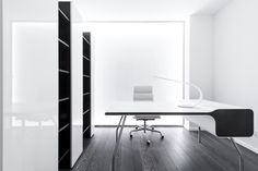 When you need home office design ideas there are many options available to you. The question most people want to know is, what do you do when you need design Futuristic Interior, Futuristic Design, Minimalist Desk, White Apartment, Layout, Interior Decorating, Interior Design, Interior Ideas, Modern Desk