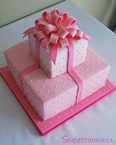 my bridal shower cake (strawberry dream) Birthday Present Cake, Birthday Cake Girls, 70th Birthday, Birthday Ideas, My Bridal Shower, Bridal Shower Cakes, Baby Shower, Girly Cakes, Fancy Cakes
