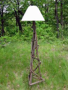 Rustic lamp - nice!