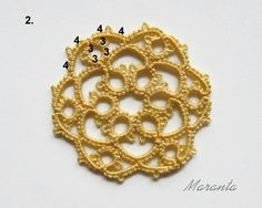 Maranta: My diagrams frywolitkowe - tatting patterns Tatting Patterns Free, Tatting Lace, Free Pattern, Jewlery, Crochet Earrings, Brooch, Crafts, Design, Diy And Crafts