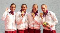 Krisztina Fazekas, Katalin Kovács, Danuta Kozák & Gabriella Szabó - Women's Kayak Four (K4) 500m   Gold Medalists. http://www.budpocketguide.com