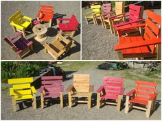 Kids armchairs project with pallets #Armchair, #Garden, #Kids, #RecycledPallet
