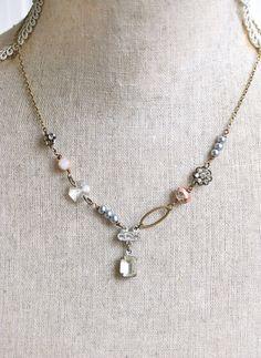Crystal rhinestone pearl wedding bridal prom by tiedupmemories